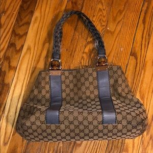 Gucci Hand/Tote bag with Blue Handles